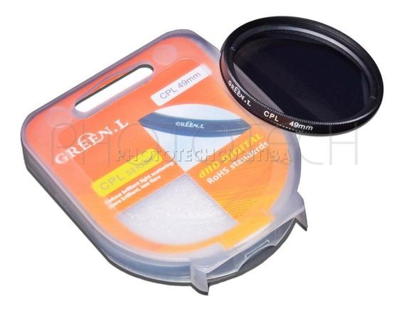 Filtro Polarizador 49mm Cpl Green.l Filtro Pl Filtro Cpl