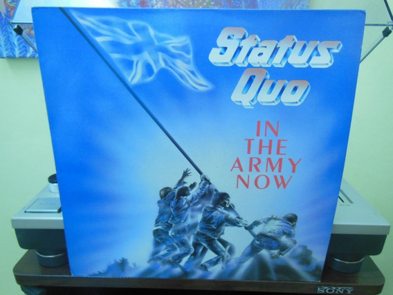 Status Quo In The Army Now Lp Inglés Impecable!