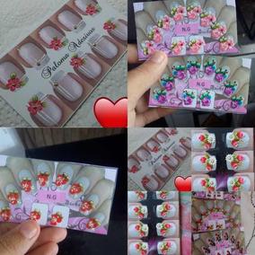 Cartelas De Adesivos Para Unhas 20 Cartelas *frete R$12,00 *