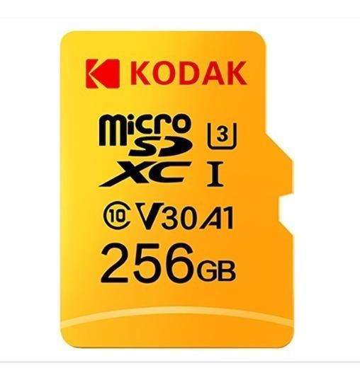 Cartão Micro Sd Kodak De 256gb. Classe 10. V30.