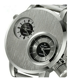 Relógio V6 Super Speed Sport Unissex Dual Time Zone