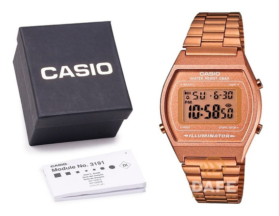Casio Feminino B640w Rose Retro C/ Caixa Original E Nf