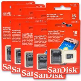 Cartão De Memória Micro Sd Sandisk Original Lacrado 16gb