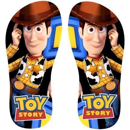 Chinelo Toy Story Personalizado Infantil Menino Com Nome