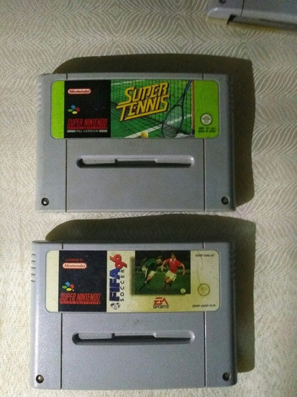 Super Tennis E Fifa Soccer Super Nintendo Snes Famicon