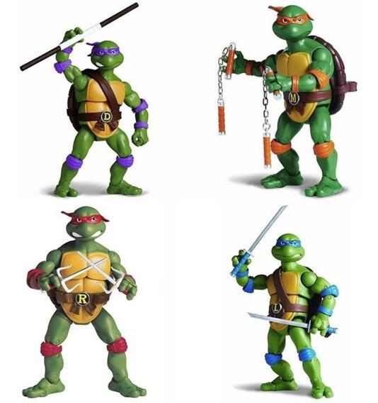 4 Bonecos As Tartarugas Ninja 2 - Completo - Lançamento