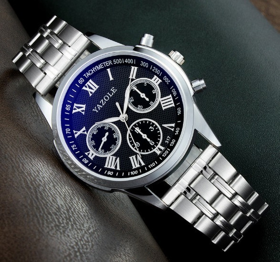Relógio Masculino Yazole 317 Quartzo Exclusive Brinde Caixa