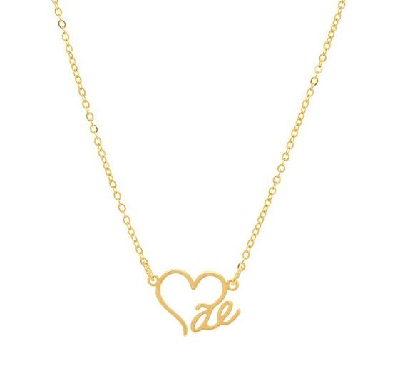 Gargantilha Rommanel Folheado Ouro 18k Coração Mãe 521624