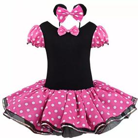 Vestido Fantasia Minnie Rosa- Brinde Tiara- Pronta Entrega