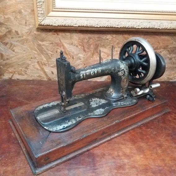 Máquina De Costura Antiga Singer Não Funciona Para Decoração
