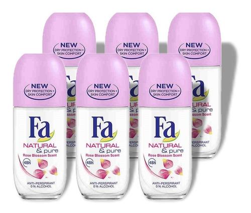Fa Desodorante Antitranspirante Pack 6 Roll-on 50ml Alemania