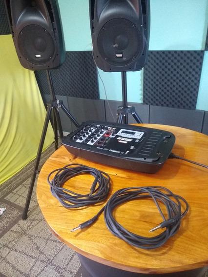 Kit Caixa Mixer Ativa Novik Evo 410 Handy Kit Caixa E Mesa
