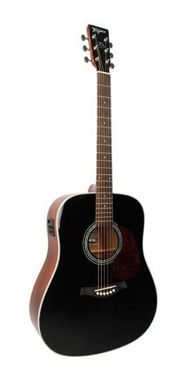 Violao Folk Elétrico Tw25 Woodstock Acoustic Series Preto