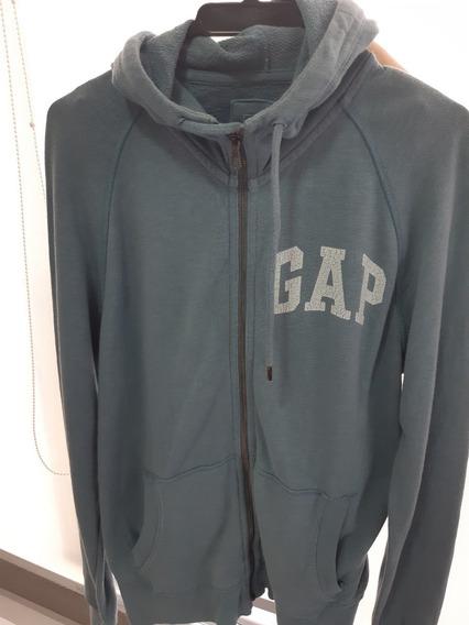 Blusão Moleton Gap Com Capuz