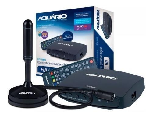 Kit Conversor Digital Dtv7000 + Antena Dtv Dtv100p 4k C/hdmi