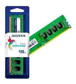 Memoria Ddr4 Adata 16gb 2400 Mhz Udimm (ad4u2400316g17-s)