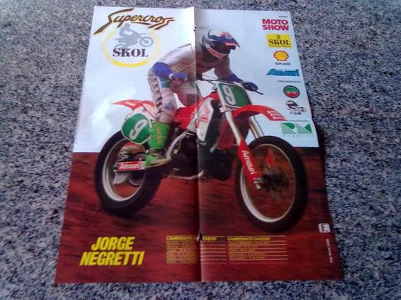 Poster Do Campeonato De Moto Cross Jorge Negretti 1991
