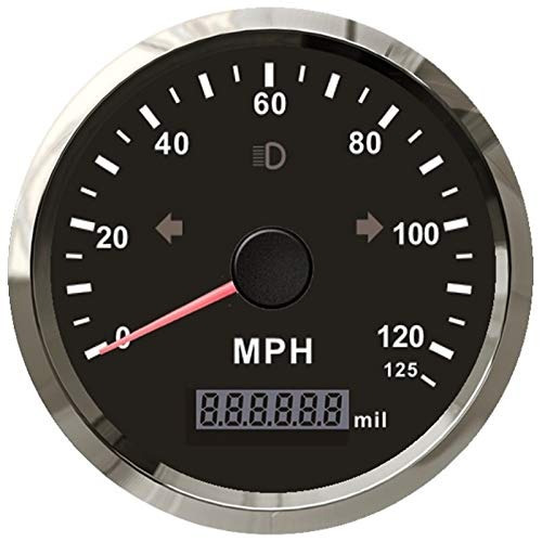 Imagen 1 de 8 de Eling Mph Gps Speedometer Odómetro 125mph Mileage Ajustab