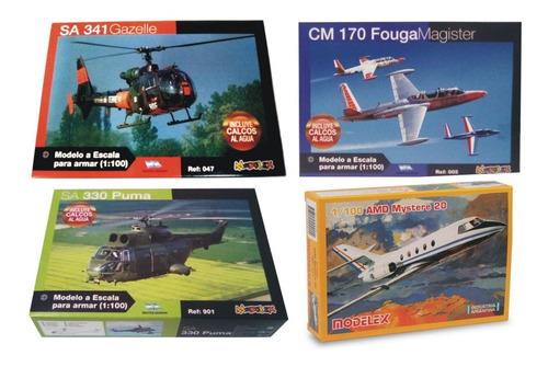 2 Maquetas Para Armar De Aviones Modelex + 1 Pegamento