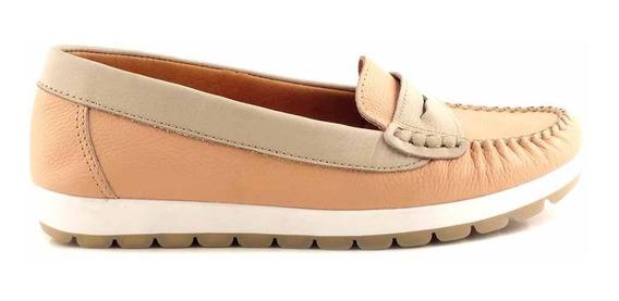 Mocasín Mujer Cuero Briganti Zapato Chatita - Mcmo03587
