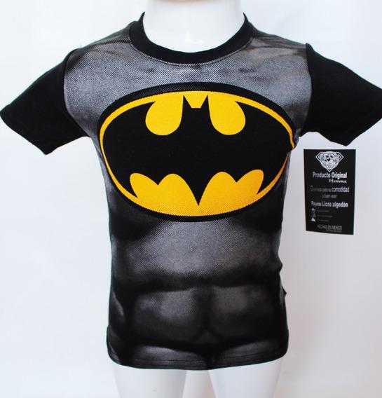 Playera Niño Batman Hombre Murcielago Superhéroes Disfraz