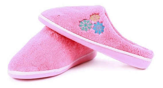Pantufla Arra Para Mujer Color Rosa Con Copos De Nieve