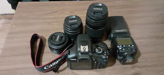 Canon T6 + Lente Do Kit + 50mm+75 300 + Flash Yn600ex Rt Ii