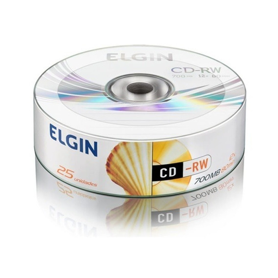 Cd-rw 700mb Regravável Elgin Tubo Com 25 Unidades - 82084