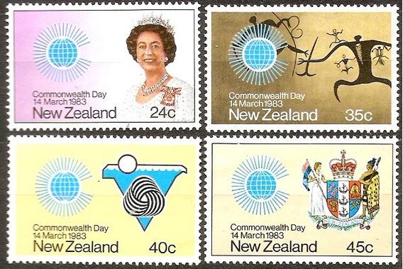 Nueva Zelanda Commonwealth Day Serie Completa 836/9 Año 1983