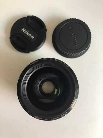 Lente Canon Ef 28mm 1:1.8 Frete Grátis 12x Sem Juros! Linda