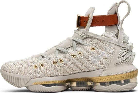 Tênis Nike Lebron 16 Hfr - Bege/dourado