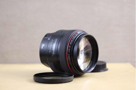 Baixou! Lente Canon 85mm 1.2 L Ii Série 2 Estado De Nova