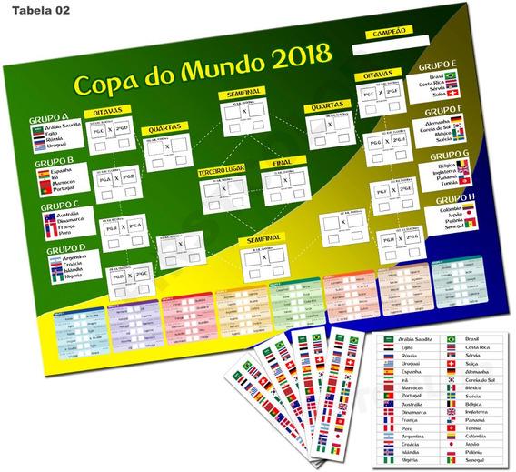Placa Tabela Copa Do Mundo 2018 Editável Mdf3mm Mod02