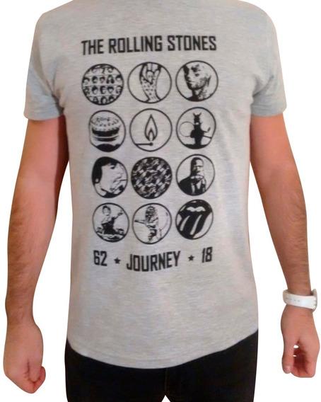 Remera Rolling Stones - Gris Claro Talle S (unisex)