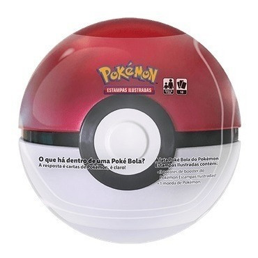 Lata Pokémon - Poké Bola - Pronta Entrega Português Copag
