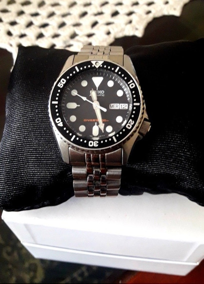 Relógio Seiko Skx013k2 Dive Midsize 38 Mm Automatico Skx013