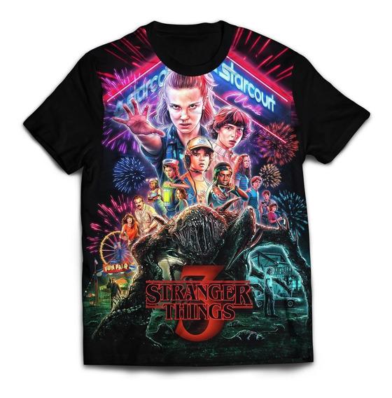 Camisa Camiseta Stranger Things 3 Filme Serie 07