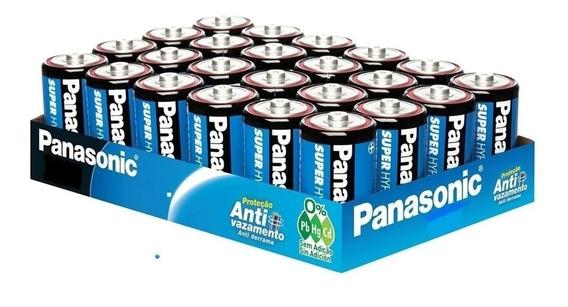 Bandeja Com 24 Pilhas Panasonic Comum Tamanho C