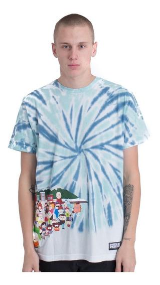 Playera Huf South Park Opening Tie Dye T Shirt Original Blue