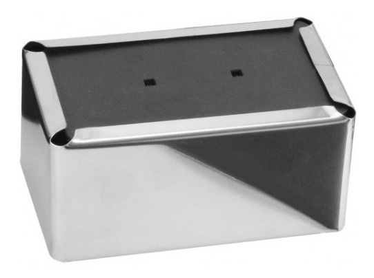 04 Un. Porta Guardanapo Em Aço Inox 430 Para Papel - Deitado