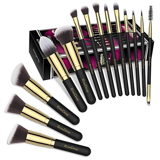 Emaxdesign Pincéis De Maquiagem 14 Pçs Importado Eua