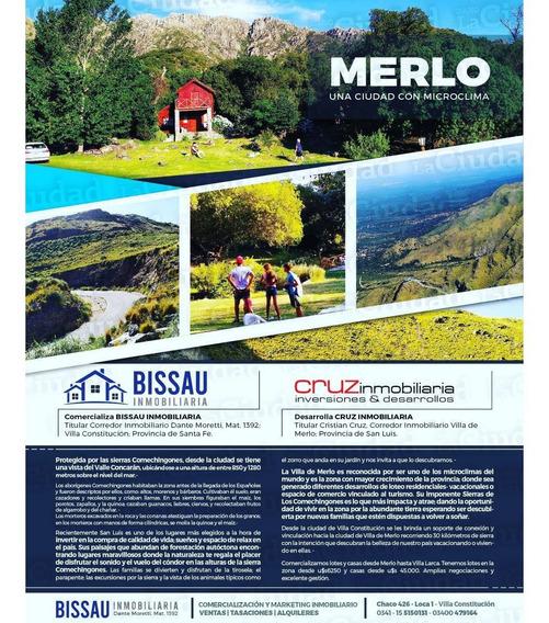 Terrenos A La Venta. Sierra Comechingones. Villa De Merlo. San Luis