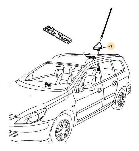 Base Antena Peugeot 308 1.6 Thp