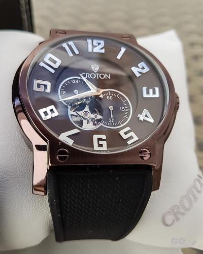Relógio Automático Croton Cor Cobre Polido! Novo, Na Caixa.