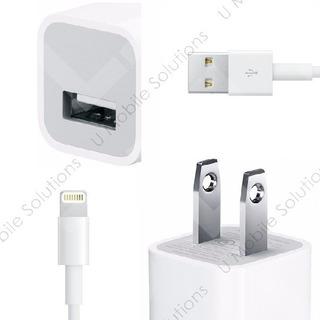 Cargador Lightning Cubo + Cable iPhone 5 6 7 8 X iPod 1 Amp
