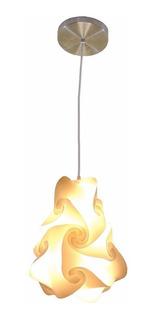 Lámpara Colgante Decorativa Minimalista C/foco Led
