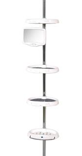 Mueble Baño Repisa Esquinero Organizador Barra Antioxido Zn4