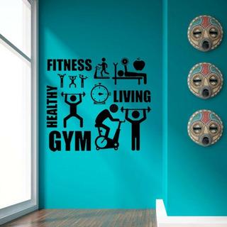 Vinilos Decorativo Gym Fitness Deporte Gimnacios 60cm