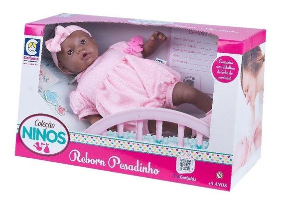 Boneca Ninos Reborn Pesadinha Negra Cotiplás
