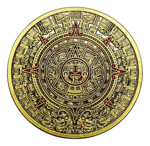 Imagen 1 de 12 de 1 Unid Pirámide De Moneda De Bronce Verde Maya Qilong